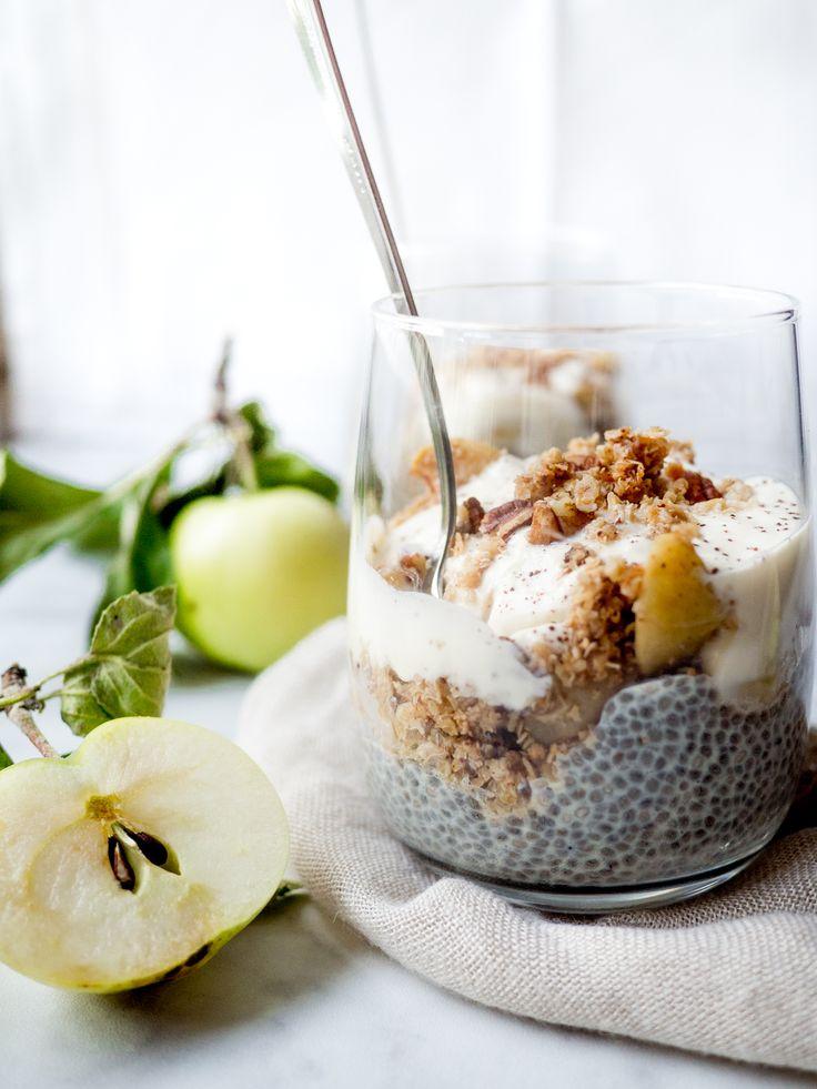 Vegan Apple Crumble Parfait / Feel Good Kitchen