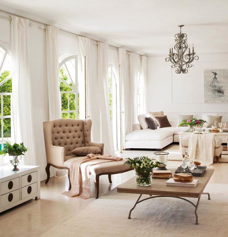 25 ideas destacadas sobre cortinas altas para ventana en - Cortinas para ventanales grandes ...