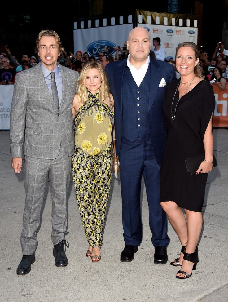 """Actors Dax Shepard, Kristen Bell, Vincent D'Onofrio and Carin van der Donk attend """"The Judge"""" premiere during the 2014 Toronto International Film Festival at Roy Thomson Hall on September 4, 2014 in Toronto, Canada."""