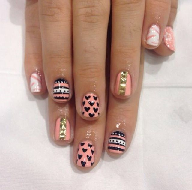 68 best nails images on pinterest beauty beauty nails and belle pastel peach aztec nails by wah nails prinsesfo Images