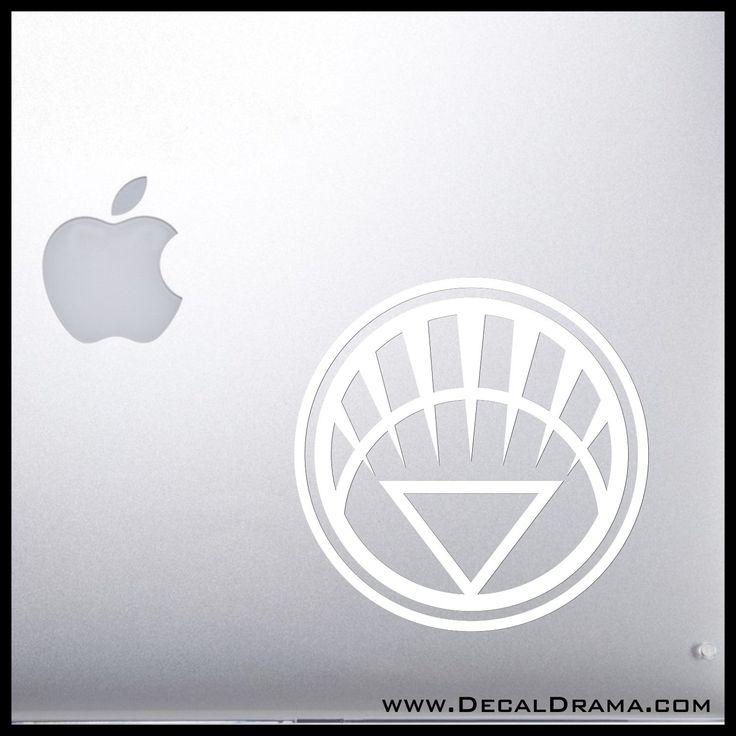White Lantern Corps (Life) emblem Vinyl Car/Laptop Decal