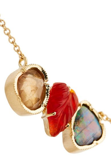 Brooke Gregson - Rivera 18-karat Gold, Sapphire And Opal Necklace - one size