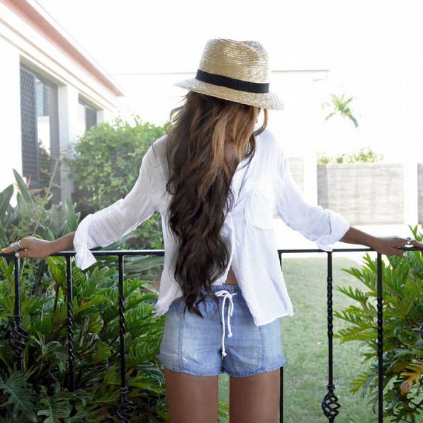Bella Dahl | Button Down Shirt and Easy Seam Shorts