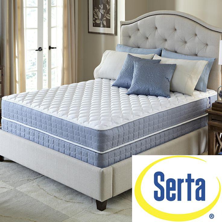 Serta Revival Plush Full Size Mattress And Foundation Set   Overstock™  Shopping   Great Deals On Serta Mattresses