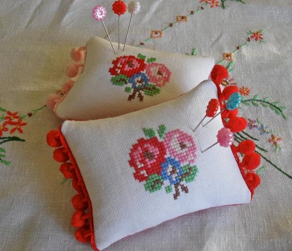cross stritch pincushion