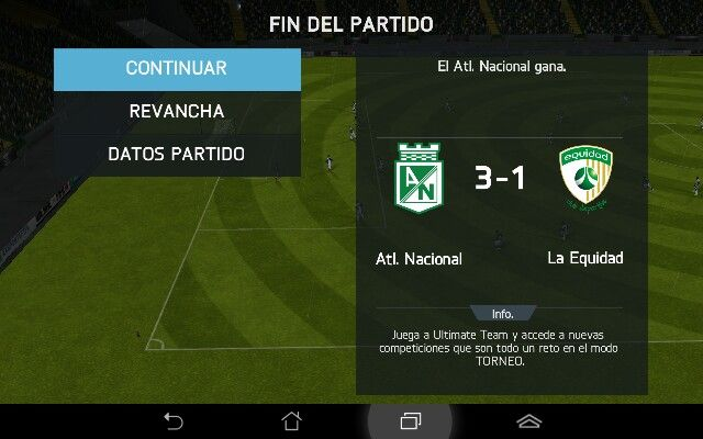 Asi queda el partido hoy #atleticonacional #verde
