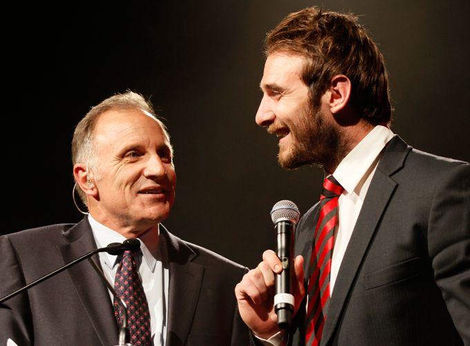 Tim and Jobe enjoying a chat at the 2014 #CrichtonMedal