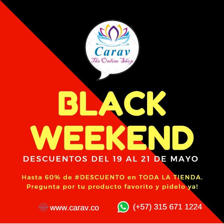 Hoy es viernes, y en #Carav estamos #Felices porque empezó el #BlackWeekend.  #Ahorra comprando todo hasta con el 60% de #descuento!!!! Mira todas nuestras promociones en www.carav.co Más info por inbox o whatsapp  📲3156711224  ✈️ Envios a todo el país 🇨🇴 #Colombia  #promociones #promocion #descuentos #BlackDay #viernes #FelizViernes #CompraEnLinea #CompraOnline #Ahorro#color #india #productosHindues #handmade #artehindu #felicidad #familia