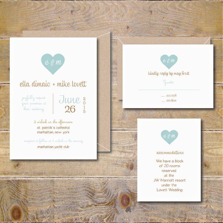 Bruiloft uitnodigingen nodigt rustieke door SweetBellaStationery