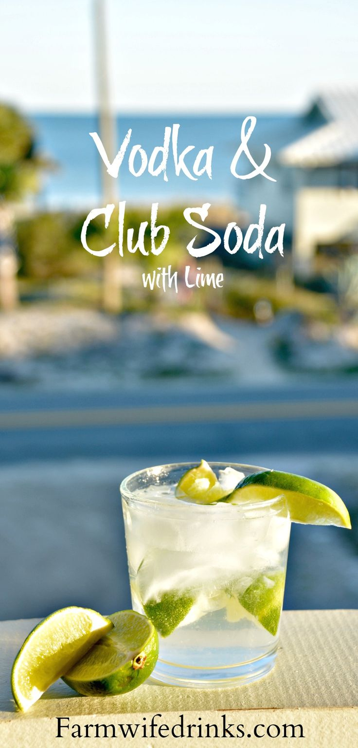 Tito's vodka and club soda with lots of lime is my favorite go-to cocktail recipe when I want a light but stiff drink at the beach or after a long day.