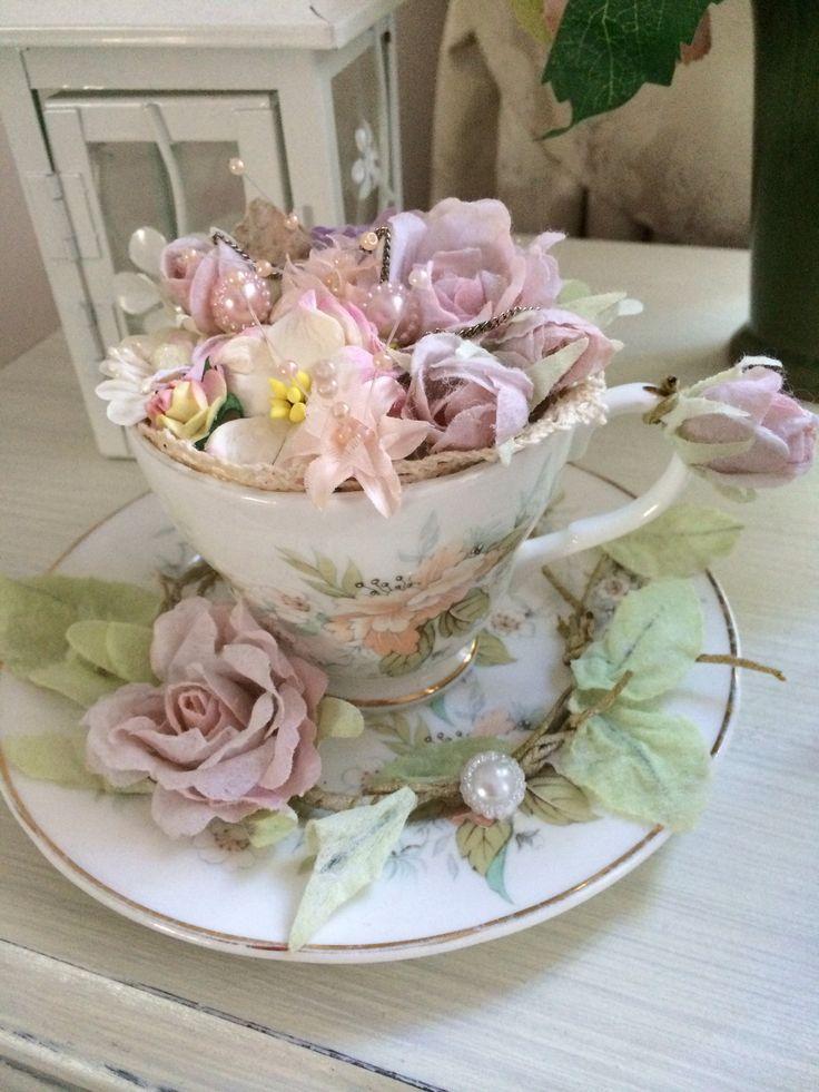 18813f46575068325ebcd1a448992ffa  teacups flower arrangements   Coffeecup
