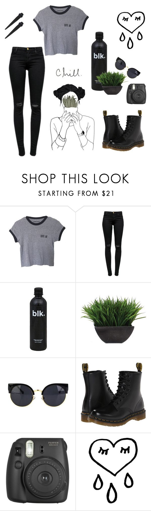 """""""Untitled #113"""" by amazingxemma ❤ liked on Polyvore featuring J Brand, Lux-Art Silks, Dr. Martens, Fujifilm, grunge, bands, relax and alternative"""