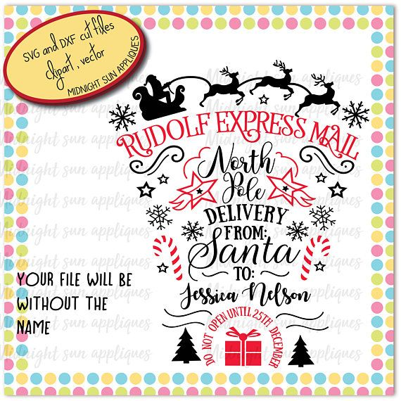 Santa claus svgsanta claus letter svgrudolf express mail