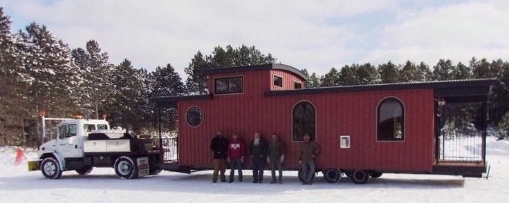 Caboose themed park model.
