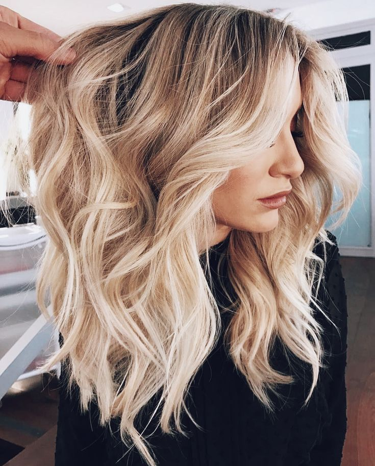 Beautiful Blonde Hair Medium Hair Honey Blonde Balayage