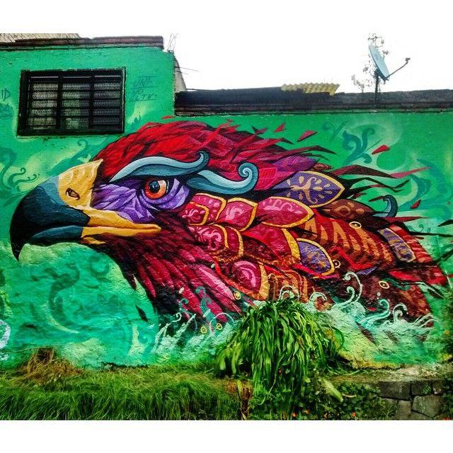 "Just Finished! ""The Eagle"" by Farid Rueda in Mexico DF #streetart #streetartnews @farid_rueda"
