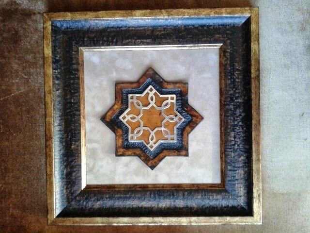 Deri ve gümüşten Selçuklu yıldızı tasarımı.