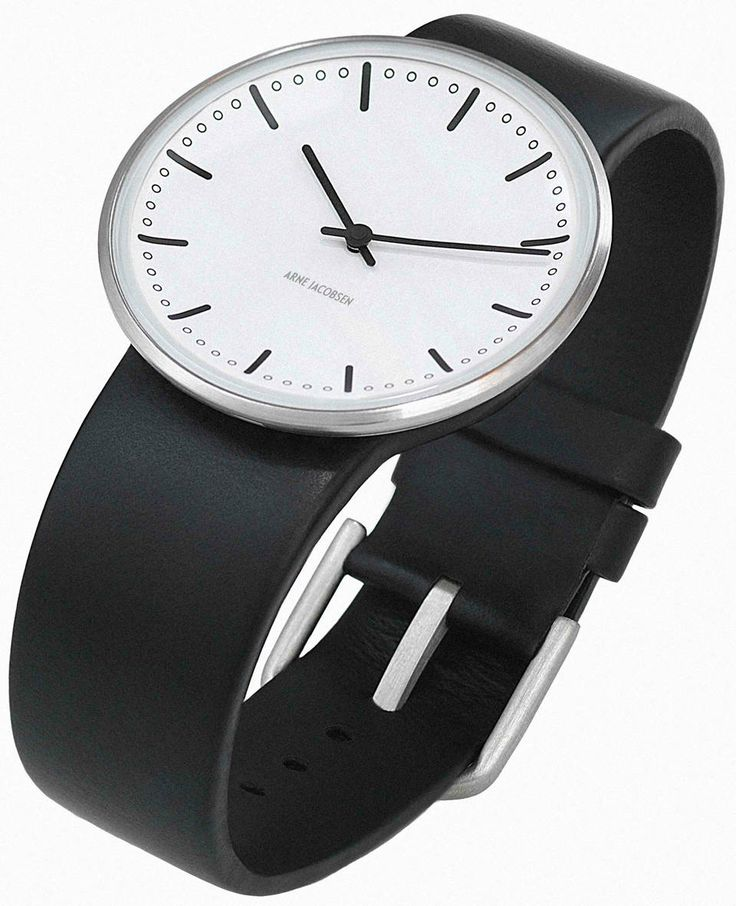 Arne Jacobsen City Hall Watch White with Black Strap visit shopbalthazar.com