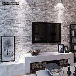 Wholesale-Great Wall 3D PVC modern brick wallpaper for living room and bedroom Chinese retro brick imitation grain stone grain wall paper