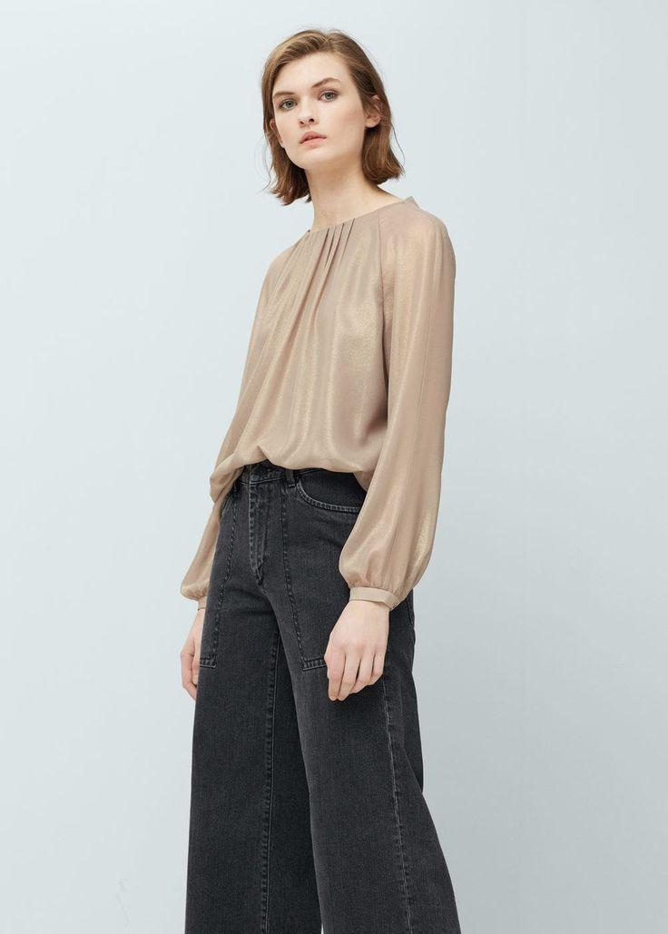 Blusa metalizada - Camisas de Mulher | OUTLET Portugal