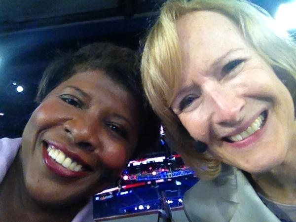 PBS NewsHour's Gwen Ifill and Judy Woodruff at the 2012 Republican National Convention. Love these two together!