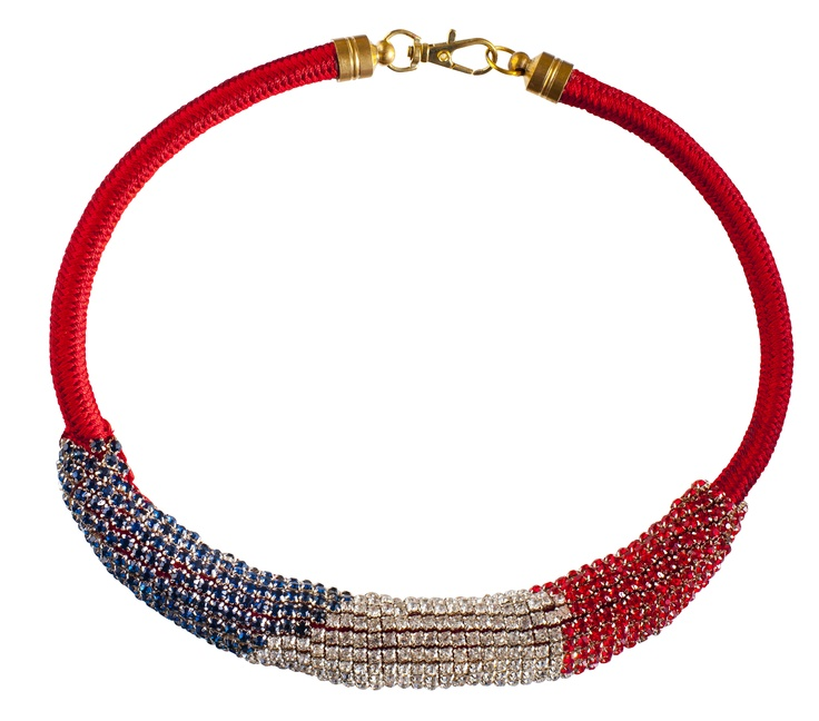 #JOANNEHYNES TRICOLOUR LUX WITH ROPE  €140  SHOP: http://www.joannehynes.com/shop/neckpieces/tricolour-lux-with-rope-made-to-order/