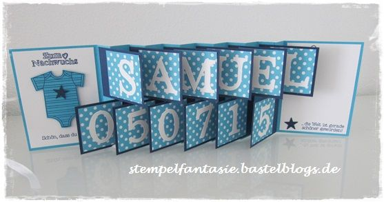Stampin Up_Accordeon Card_Akkordeonkarte_Baby_Geburt_Junge_Stempelfantasie
