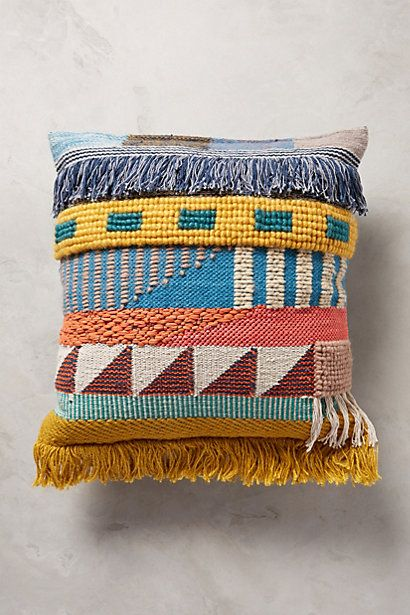 Hand-Embroidered Kala Pillow - anthropologie.com #anthrofave