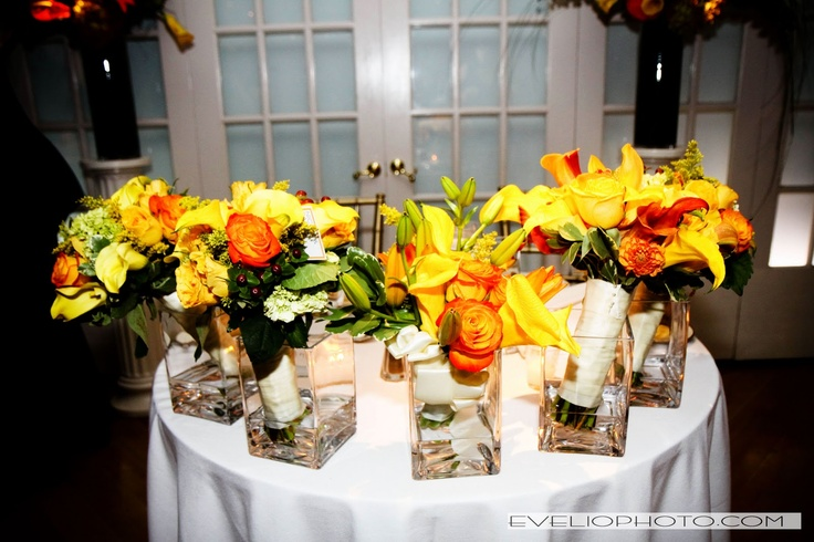 Manhattan Penthouse Wedding New York NY Flowers Arrangements