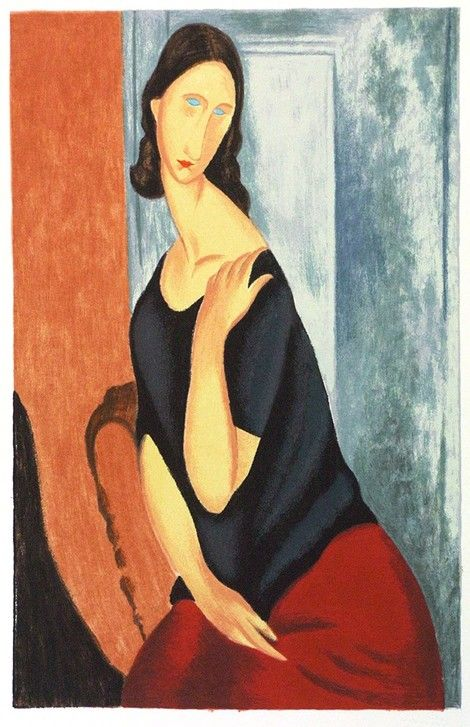 Amedeo Modigliani, Jeanne Hebuterne (with a scarf)  on ArtStack #amedeo-modigliani #art
