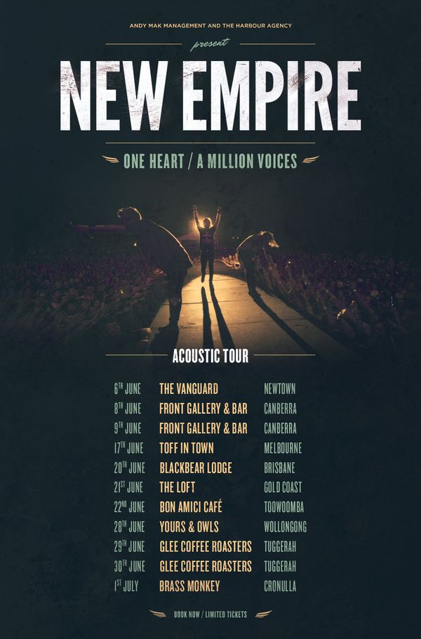 New Empire - Band tour poster by Cade Embery, via Behance