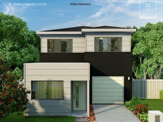 Yeoman Homes Hamilton NZ 2 storey home Rototuna. Small lot