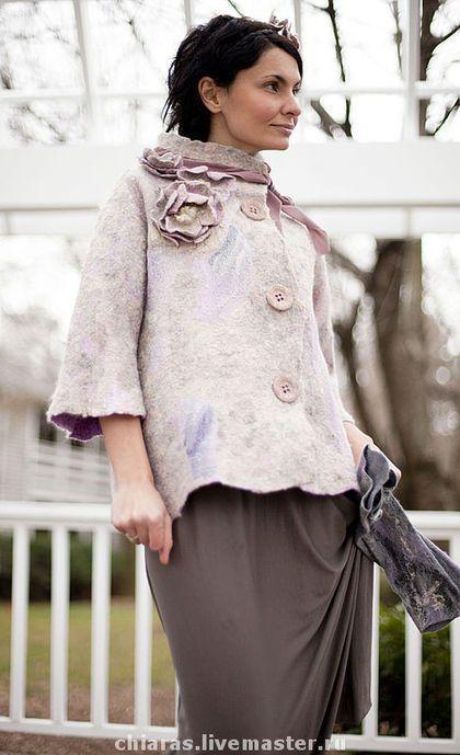 """Верхняя одежда ручной работы. Ярмарка Мастеров - ручная работа Валяный жакет """"весна в Париже"""". Handmade."""