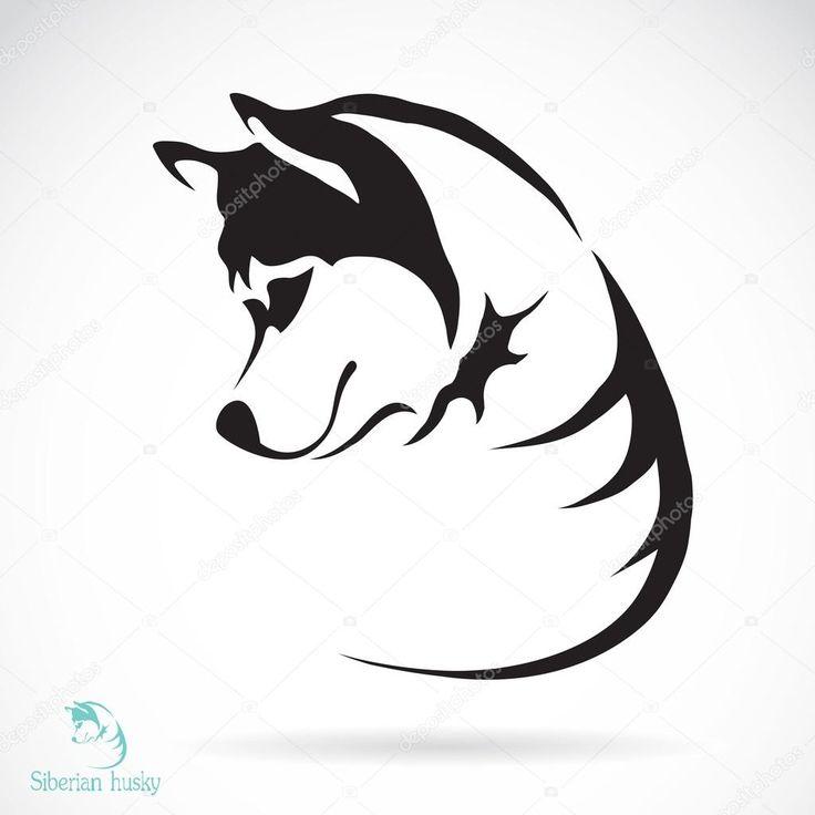 Скачать - Векторное изображение собак Сибирский хаски — стоковая иллюстрация #43465693