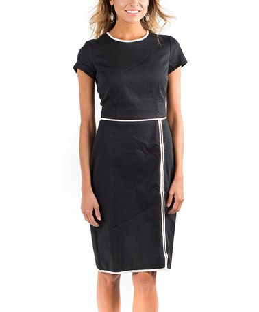 Another great find on #zulily! Black Board Meeting Sheath Dress #zulilyfinds