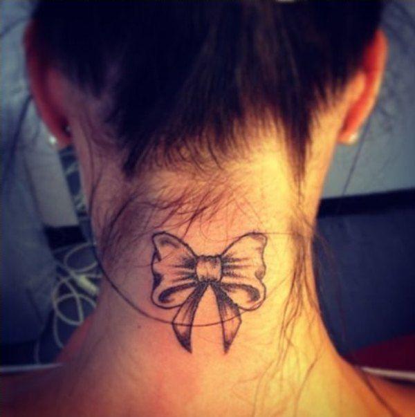 Bow Small Feminine Tattoos