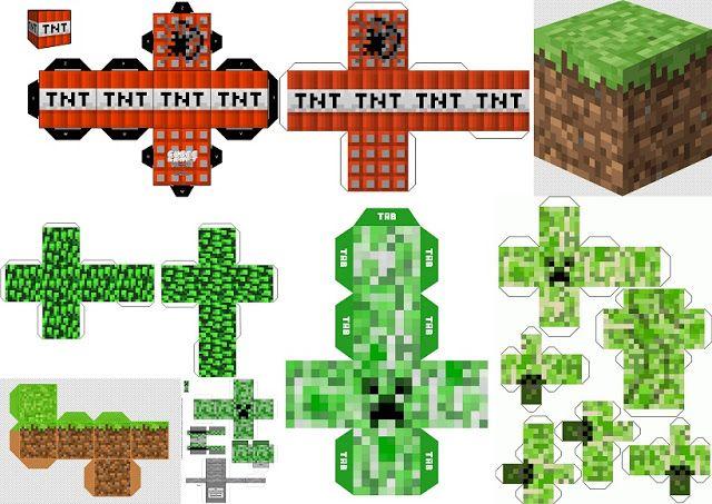 Fiesta de Minecraft: Cajas para Imprimir Gratis.