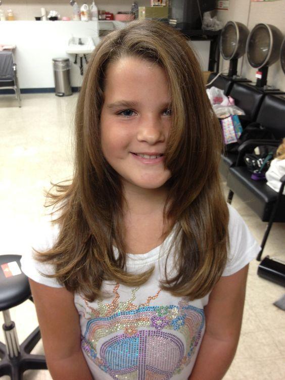 Cortes de cabello en capas para ninas