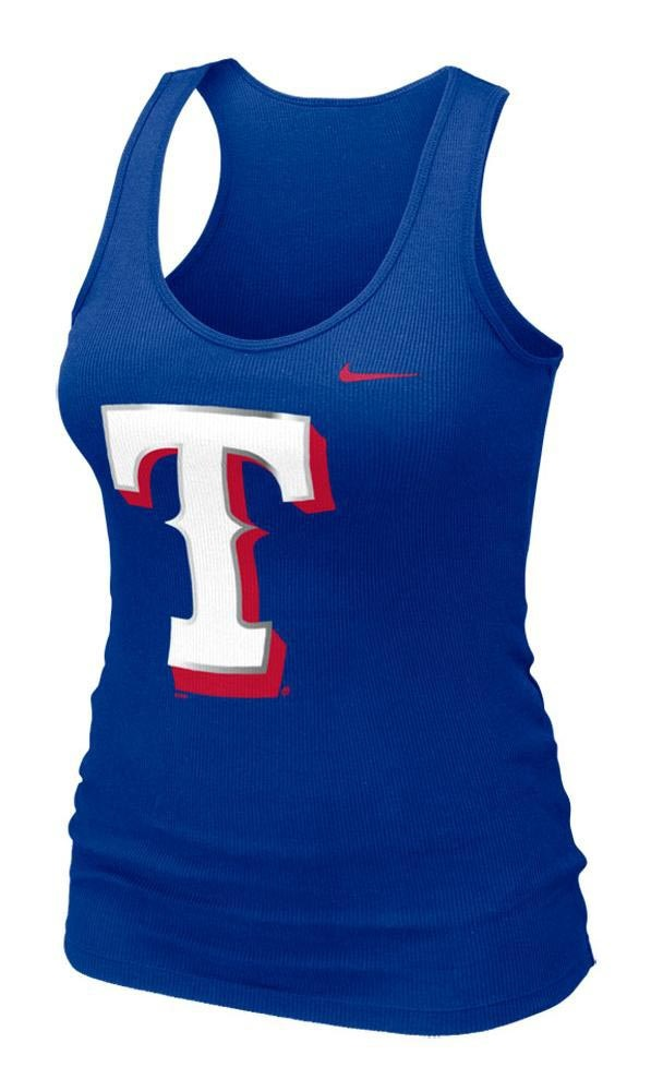 Texas (TX) Rangers Women's Royal Rib Tank by Nike $28.00