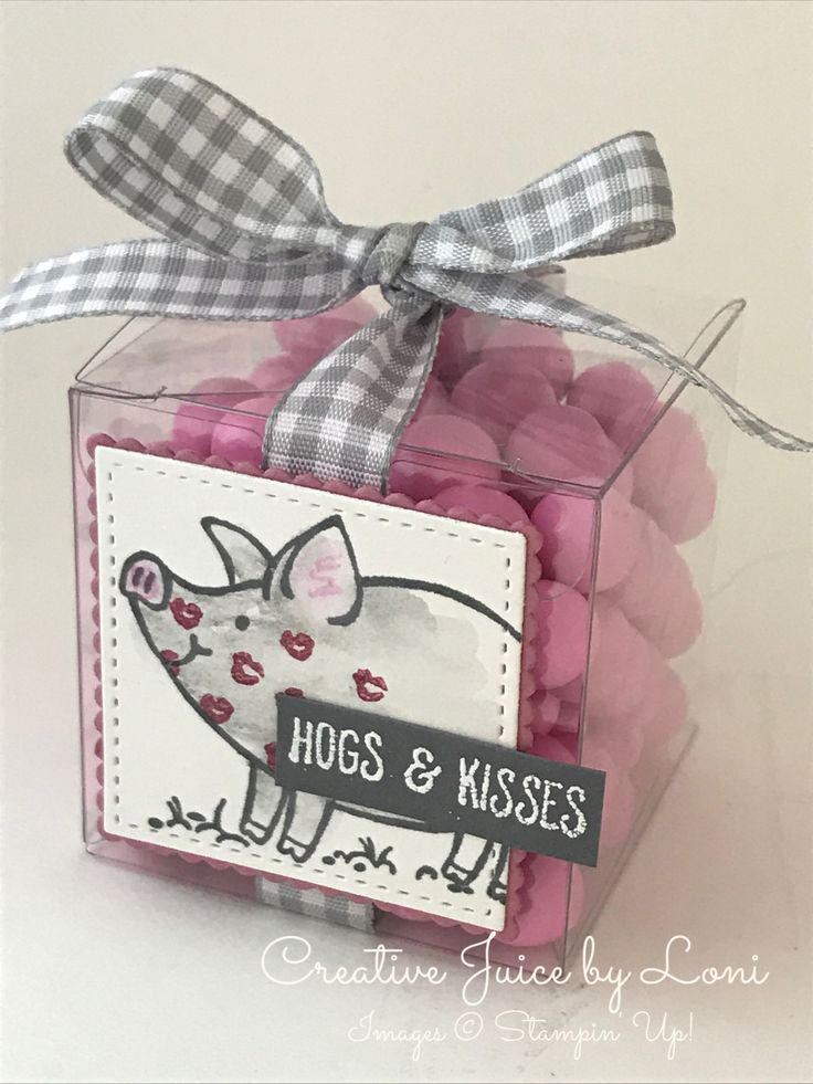 Stampin' Up! This Little Piggy, Treat box, Hogs & Kisses, www.creativejuicebyloni.com