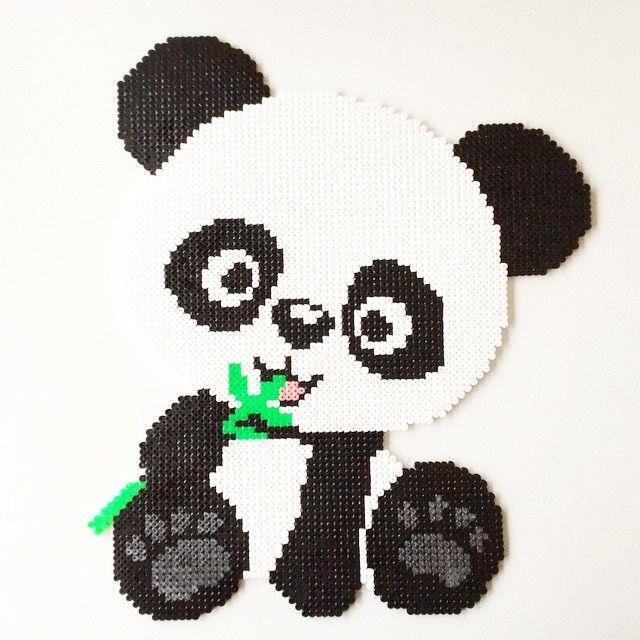 Panda bear perler beads by perler art  5cf6d3ccde00b