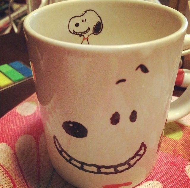 Snoopy cheesy grin mug - I wish I knew where to buy one!