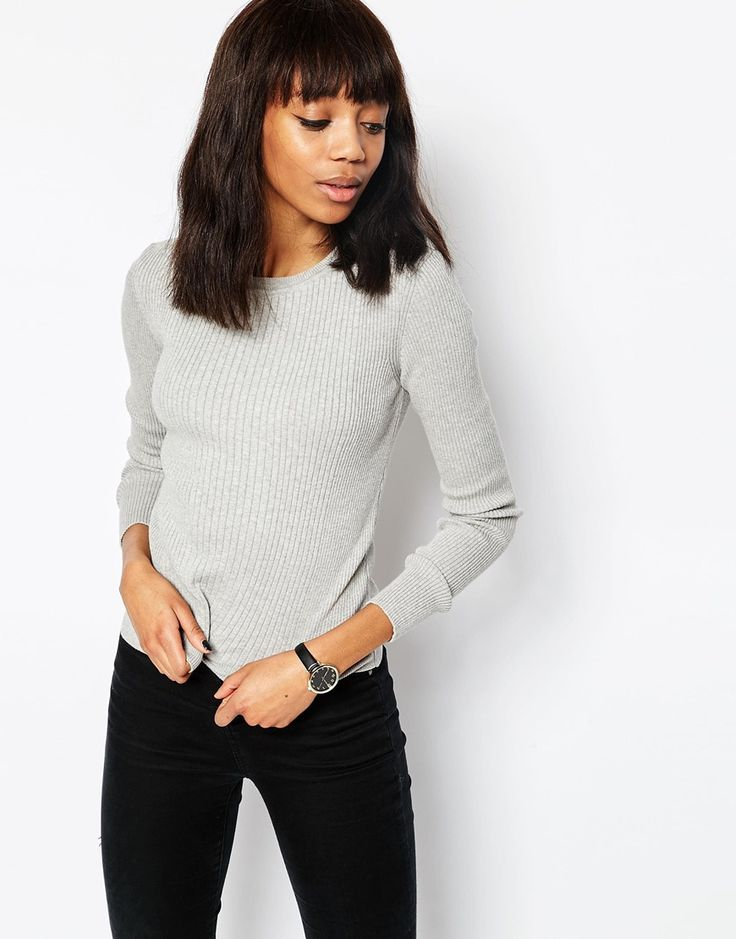 ASOS+Jumper+In+Rib+With+Crew+Neck