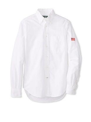 70% OFF Gitman Vintage Men's Solid Long Sleeve Shirt (White)
