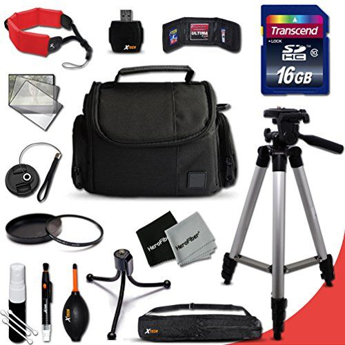 Introducing Ideal Nikon Digital Camera Accessories KIT for Nikon Coolpix L840 L830 L820 L330 L320 L620 L610 L810 L32 L31 L30 L28 L26 L120 L110 L100 L310 L24 L22 L20 L19 S210 S205 S520 S510 S500 S200 S700 S600 S750 P7800 P7700 P340 1 S2 1 J4 1 V3 P310 P510 Digital Cameras Includes 16GB High Speed SD Memory Card  Fits All Well Padded Case  Full Size 60 Inch Tripod  52mm UV Protection Filter  52mm Center Pinch Lens Cap  Lens Cap Holder  Memory Card Wallet Case Holder  Floating Foam HandStrap…