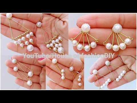 How To Make Pearl Earrings for Office/Collage Going girls||Pearl Earrings At Home - YouTube