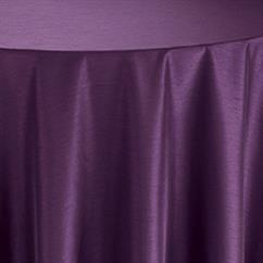 Aubergine Shantung Table Linen   Purple Tablecloths Rentals