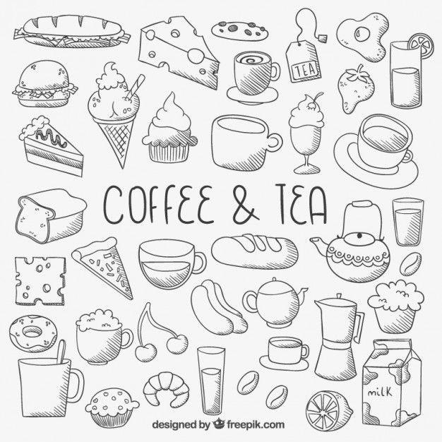 Koffie en thee kleurplaat Baixe milhares de vetores gratuitos, armazenadas, fotos em HD e PSD