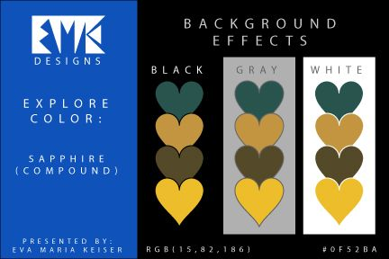 Eva Maria Keiser Designs: Explore Color Background Effects: Sapphire (Compou...