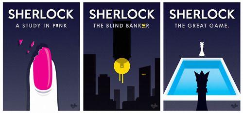 Sherlock (BBC) Season 1 / posters by Ania Goszczynska